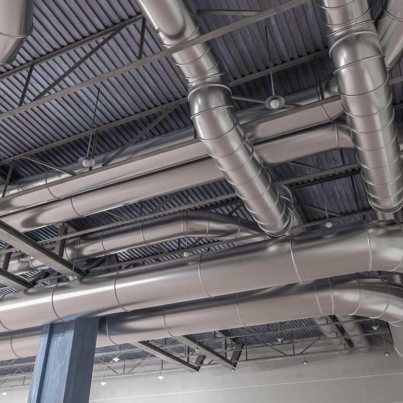 impianti aeraulici industriali  e unità di trattamento aria